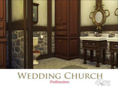 Церковь для венчания от Pralinesims для The Sims 4