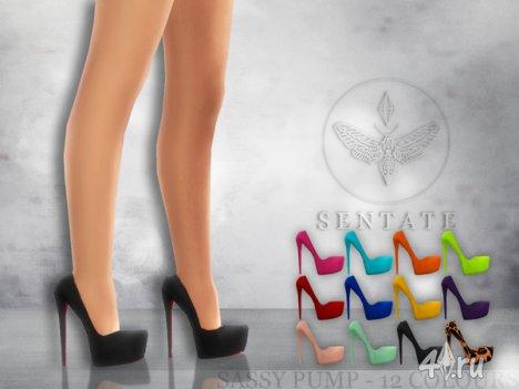 "Туфли ""Нахальные"" от Sentate для The Sims 4"