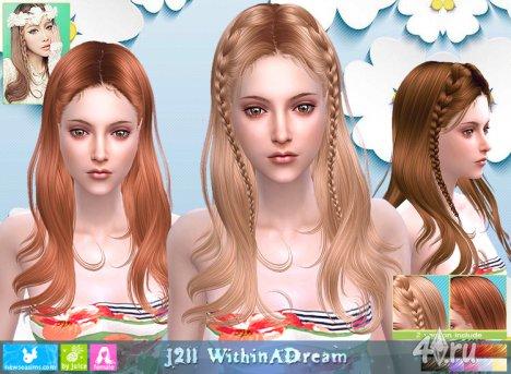 """Женская прическа """"Во сне"""" от NewSea для The Sims 4"""