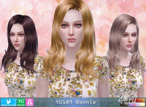 """Женская прическа """"Миловидная"""" от NewSea для The Sims 4"""