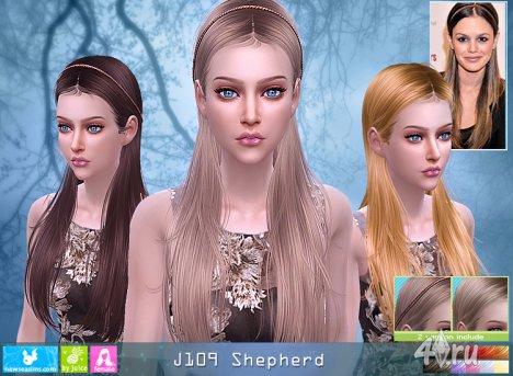 """Женская прическа """"Пастырь"""" от NewSea для The Sims 4"""