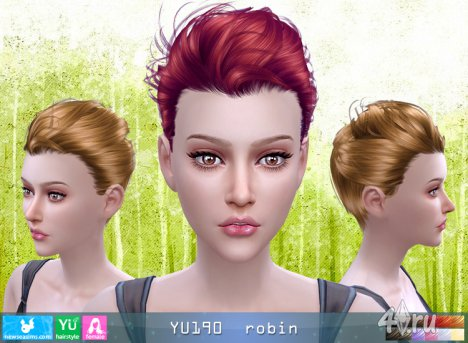 """Прическа для мужчин и женщин """"Робин"""" от NewSea для The Sims 4"""