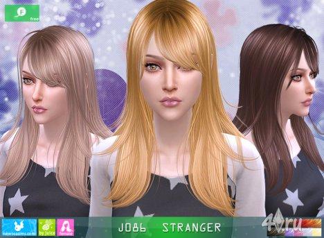 """Женская прическа """"Незнакомка"""" от NewSea для The Sims 4"""