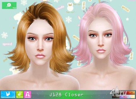 """Женская прическа """"Ближе"""" от NewSea для The Sims 4"""