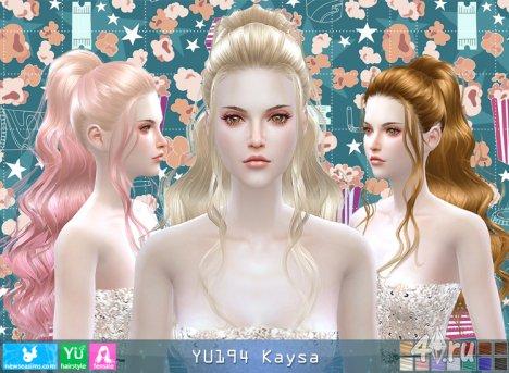 """Женская прическа """"Кайса"""" от NewSea для The Sims 4"""