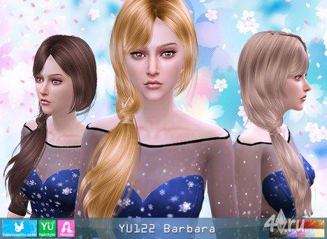 """Женская прическа """"Барбара"""" от NewSea для The Sims 4"""