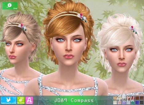"""Женская прическа """"Компас"""" от NewSea для The Sims 4"""