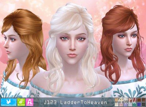 "Женская прическа ""Лестница в небо"" от NewSea для The Sims 4"