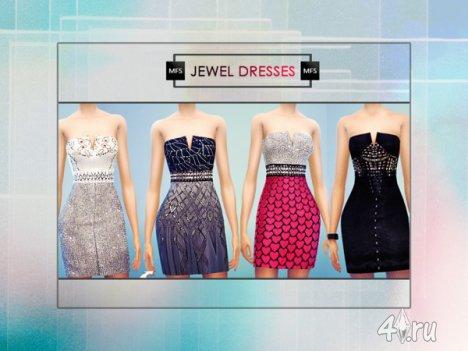 """Платье """"Драгоценность"""" от Miss Fortune для The Sims 4"""