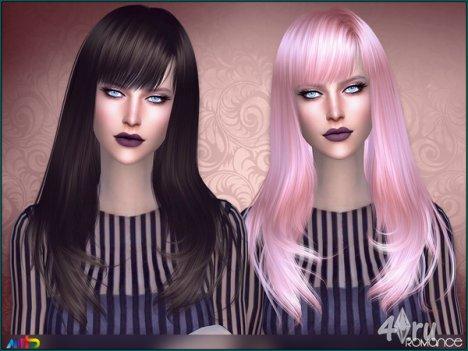 """Прическа """"Романс"""" от Anto для The Sims 4"""