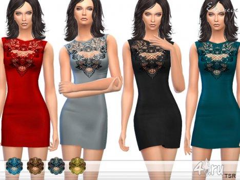 Платье миди от Еkinege для The Sims 4