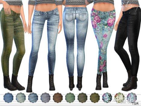 Зауженные джинсы от Еkinege для The Sims 4
