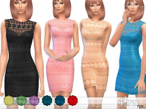 Вязанное платье от Еkinege для The Sims 4