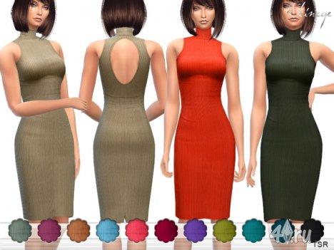 Платье от Еkinege для The Sims 4