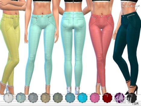 Яркие брюки от Еkinege для The Sims 4