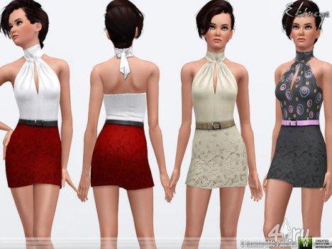 Платье от Еkinege для The Sims 3