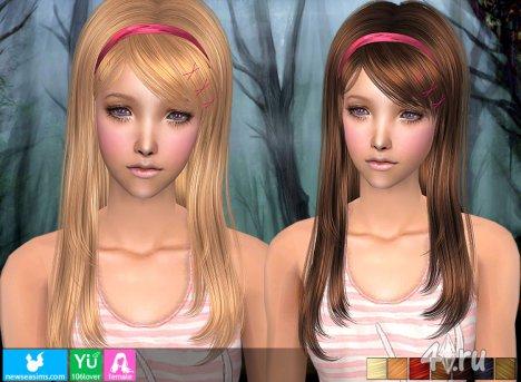Женская прическа от NewSea для The Sims 2