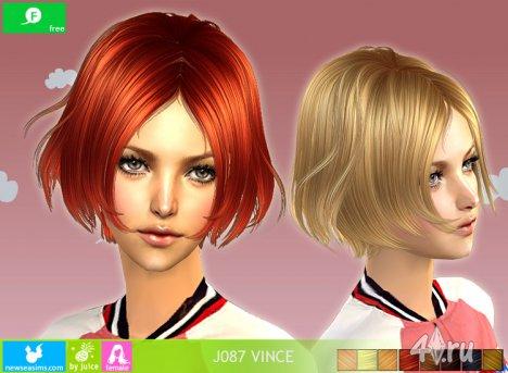 """Женская прическа """"Vince"""" от NewSea для The Sims 2"""