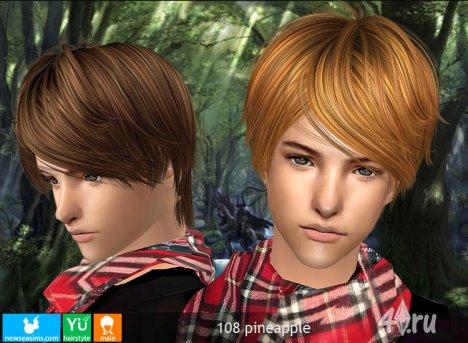 """Мужская прическа """"Ананас"""" от NewSea для The Sims 2"""