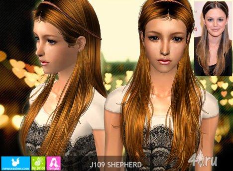 """Женская прическа """"Пастырь"""" от NewSea для The Sims 2"""