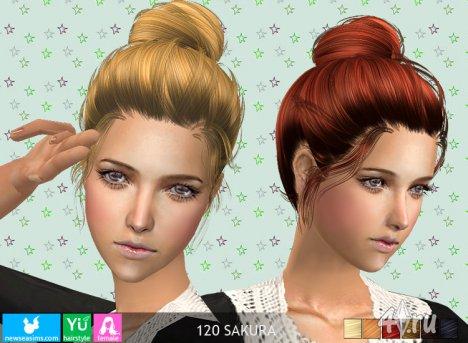 """Женская прическа """"Сакура"""" от NewSea для The Sims 2"""