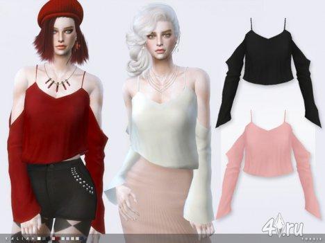 """Блуза """"Kaliah"""" от Тoksik для The Sims 4"""