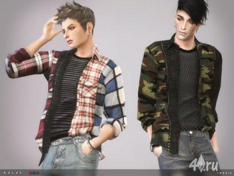 """Мужская рубашка """"Balae"""" от Тoksik для The Sims 4"""