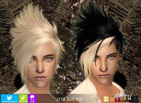 """Мужская прическа """"Плохой парень"""" от NewSea для The Sims 2"""