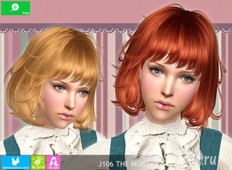 """Женская прическа """"Момент"""" от NewSea для The Sims 2"""
