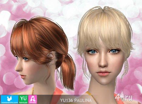 """Женская прическа """"Паулина"""" от NewSea для The Sims 2"""