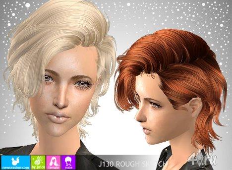 """Женская прическа """"Hабросок"""" от NewSea для The Sims 2"""