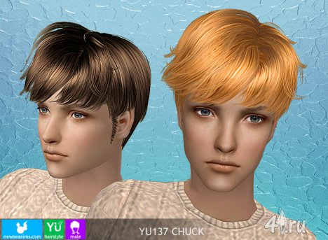 "Мужская прическа ""Chuck"" от NewSea для The Sims 2"