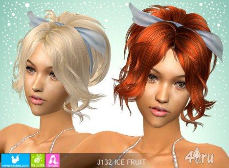 """Женская прическа """"Ледяные фрукты"""" от NewSea для The Sims 2"""