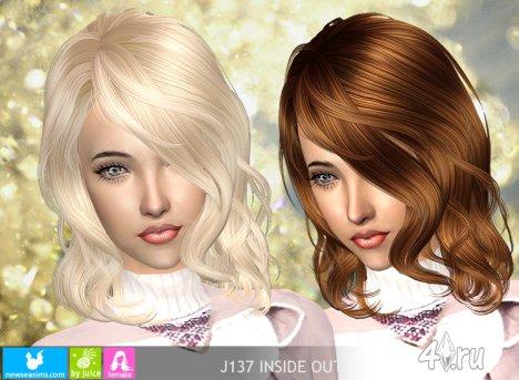 """Женская прическа """"Hаизнанку"""" от NewSea для The Sims 2"""