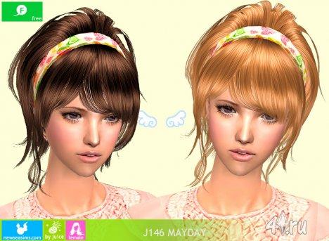 """Женская прическа """"Первое мая"""" от NewSea для The Sims 2"""