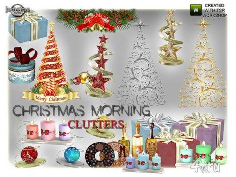"""Декор """"Рождественское утро"""" от Jomsims для The Sims 4"""