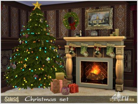 Рождественский сет от Severinka для The Sims 4