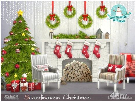 """Сет """"Скандинавское рождество"""" от Severinka для The Sims 4"""