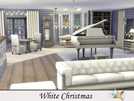 """Особняк """"Белое Рождество"""" от Evi  для The Sims 4"""