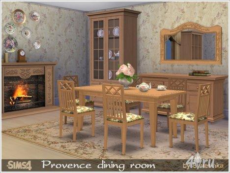 Столовая в прованском стиле от Severinka для The Sims 4