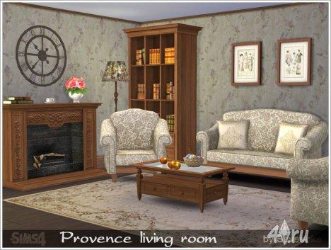 Гостиная в прованском стиле от Severinka для The Sims 4