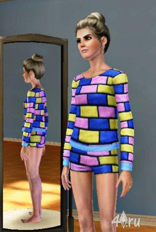 Модель Эмбер Филлерап Кларк (Amber Fillerup Clark) от BB для Симс3