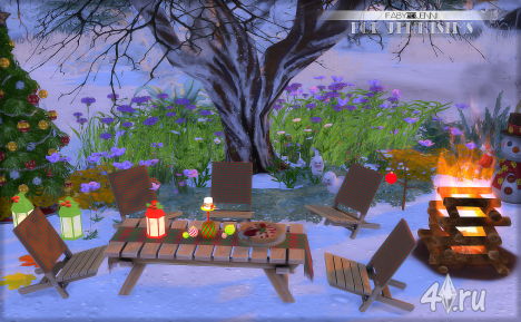"Набор украшений на Рождество ""Faby"" от Jenisims для Sims 4"