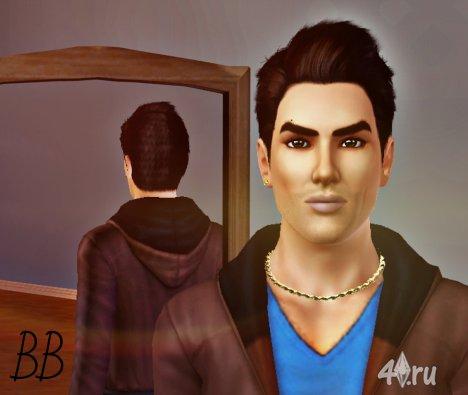 Сим Люк Катчер (Luke Katcher) от BB для Симс 3 в формате sims3pack