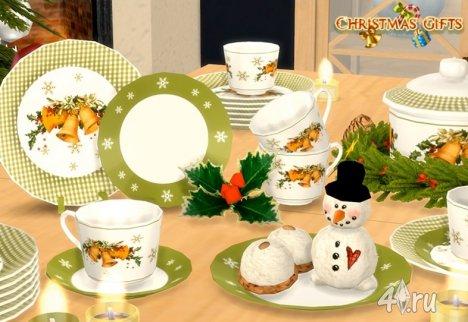 Набор посуды и декора