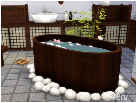 Ванна в восточном стиле от Severinka для The Sims 4