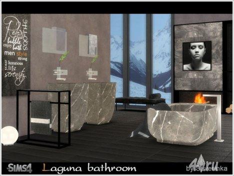 """Ванная комната """"Лагуна"""" от Severinka для The Sims 4"""