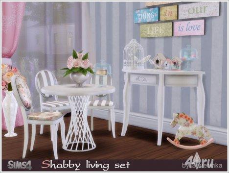 Набор мебели и декора в стиле шебби от Severinka для The Sims 4