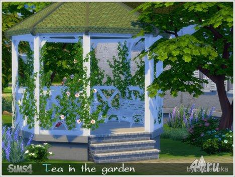 """Набор мебели и декора """"Чай в саду"""" от Severinka для The Sims 4"""