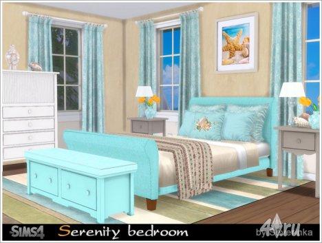 Спальня в морском стиле от Severinka для The Sims 4